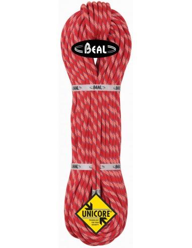 Beal Kletterseil 8,6 Cobra II Unicore - Dry Cover, orange, 50 m von Beal