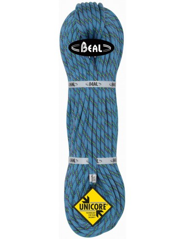Beal Kletterseil 8,6 Cobra II Unicore - Dry Cover, blue, 50 m von Beal