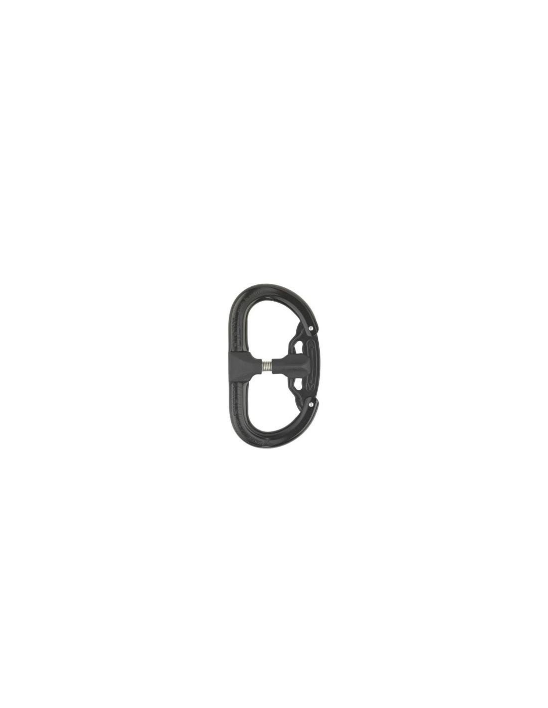 AustriAlpin FIFTY-FIFTY AutoLock, 2 Kammern, patentiert schwarz eloxiert Karabin