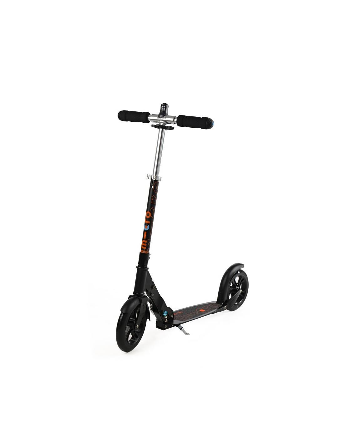 micro scooter black 200mm interlock zum bestpreis kaufen. Black Bedroom Furniture Sets. Home Design Ideas