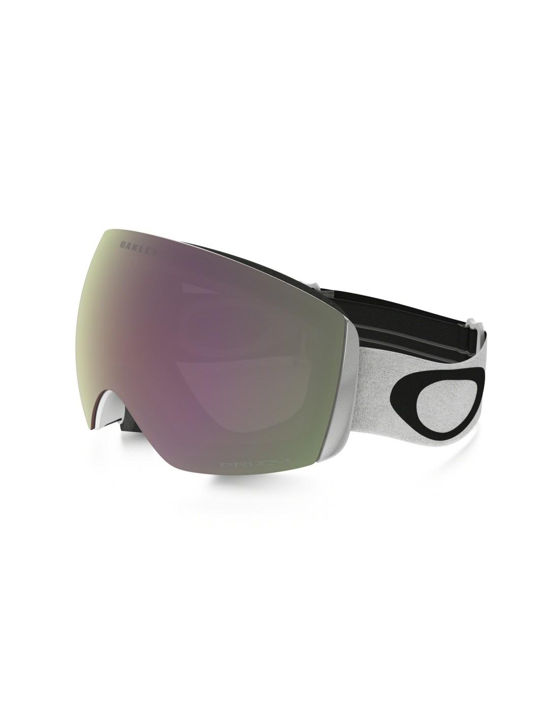 Oakley Skibrille Flight Deck XM Matte White Prizm Snow Hi Pink Iridium Skibrillenfarbe - White, Skibrillenglas - Smoke - Black, Skibrillenvariante - Einheitsgröße Erwachsene,