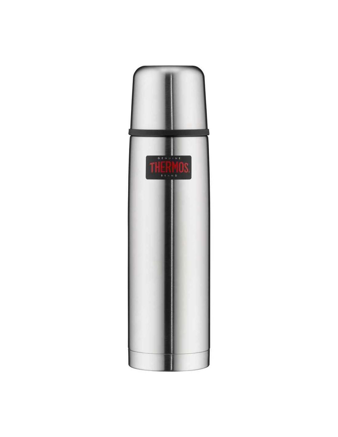 Thermos Edelstahl mattiert /stainless steel mat 0.75L Trinkflaschenfarbe - Silve