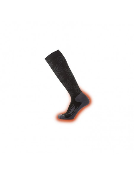 Therm-Ic Thermo-Socken Winter Insulation Snowflakes Black von Therm-Ic