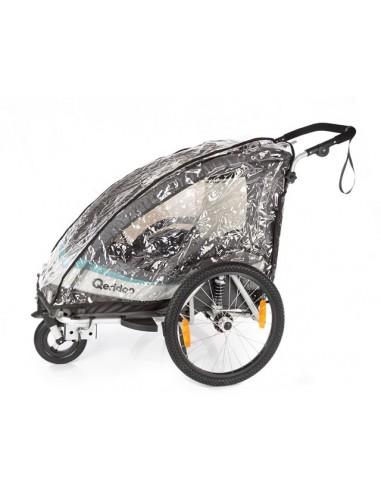 Qeridoo Regenverdeck für Fahrradanhänger Speedkid 2 von Qeridoo