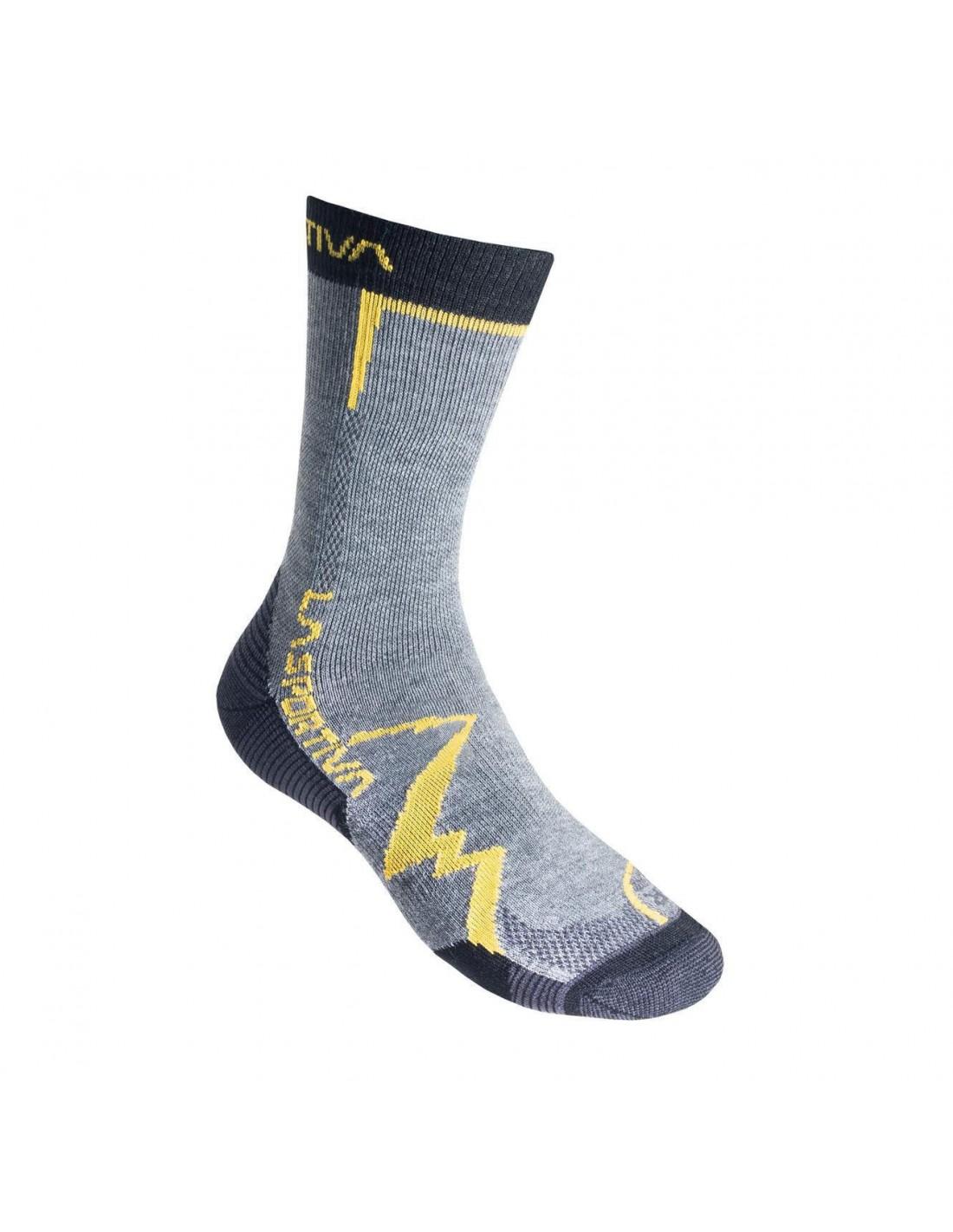 La Sportiva Socken Mountain Grey/Yellow Sockengröße - S,