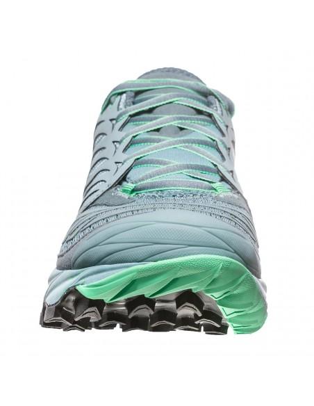 La Sportiva Akasha Woman Mountain Running, Stone Blue/Jade Green von La Sportiva