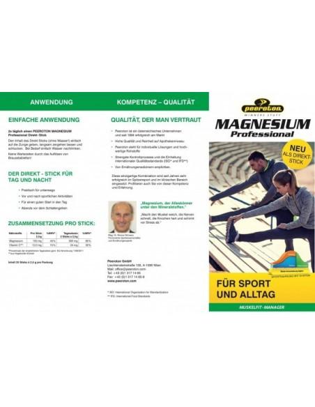 Peeroton Muskelfit-Manager Magnesium Professional Direktstick, Schwarze Johannisbeere von Peeroton