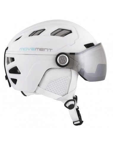 Movement Skihelm Pilot Women photochromique, White von Movement