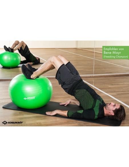 Schildkröt-Fitness Gymnastikball 65 cm, phthalatfrei, mit Ballpumpe, Grün
