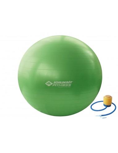 Schildkröt-Fitness Gymnastikball 55 cm, phthalatfrei, mit Ballpumpe, Grün