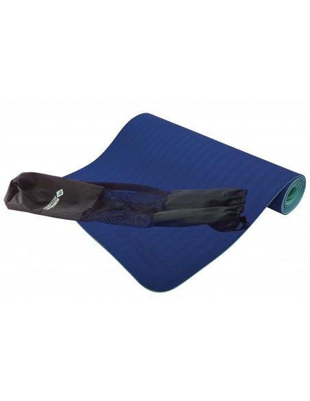 Schildkröt-Fitness Bicolor Yogamatte, Navy-Mint, 4mm, PVC-frei, im Carrybag