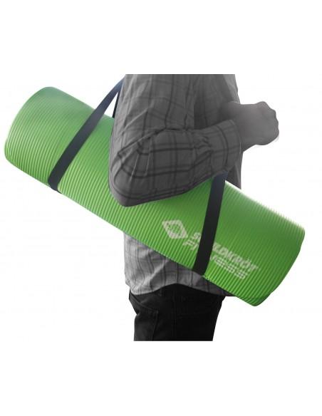 Schildkröt-Fitness Fitnessmatte, 15 mm, Grün, mit Tragegurt