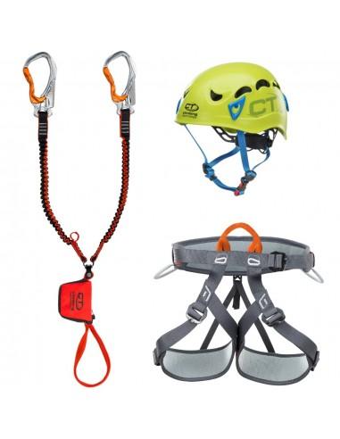Climbing Technology Kit Ferrata Premium Twist, Galaxy Helm von Climbing Technology