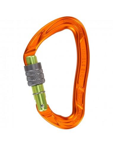 Climbing Technology Karabiner Nimble Evo SG - screw gate, orange/green von Climbing Technology in Karabiner