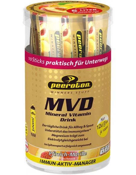 PEEROTON MVD Mineral Vitamin Drink Sticks, Pfirsich/Marille, 10 x 4.5g von Peeroton