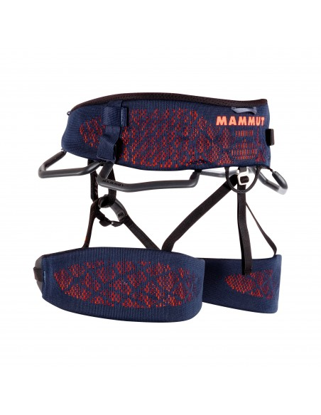 Mammut Klettergurt Comfort Knit Fast Adjust Harness Men, Marine-Safety Orange von Mammut