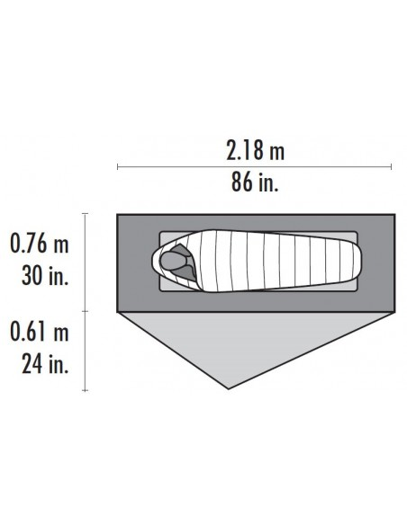 MSR Zelt FreeLite 1 Gray V2 von MSR